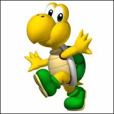 Dans les jeux de Mario, les tortues peuvent avoir une carapace verte...
