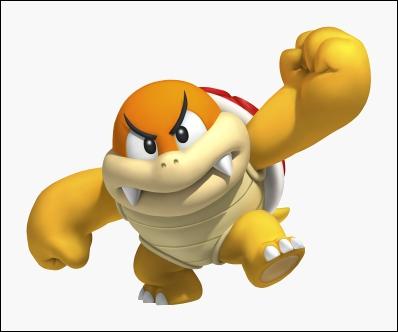 Il s'agit d'un vieux boss, apparu dans quelques jeux Mario. Arriverez-vous à déterminer qui il est ?