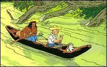 Dans quel album Tintin navigue-t-il sur une pirogue ?