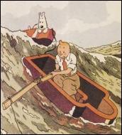 Dans quel album, Tintin se retrouve-t-il en danger dans un cercueil flottant, perdu en pleine mer ?