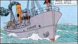 Dans quel album Tintin et ses amis partent-ils à la recherche d'un objet spatial, à bord du navire océanographique  Aurore  ?
