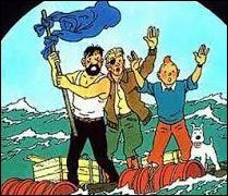 Quel est le nom du personnage qui a survecu avec Tintin et le capitaine Haddock sur ce radeau de fortune ?