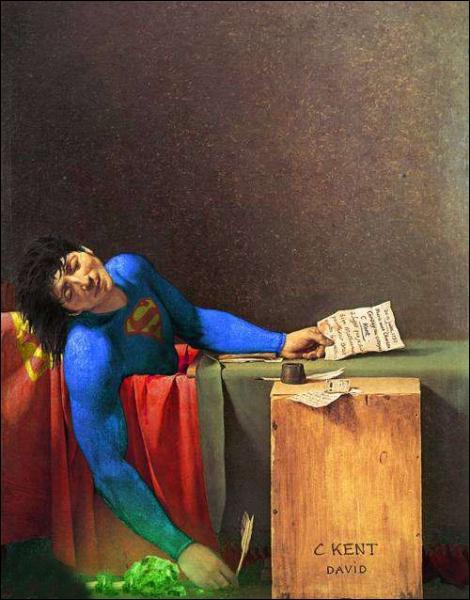 Quel personnage remplace Marat dans cette toile de Jacques Louis David ?