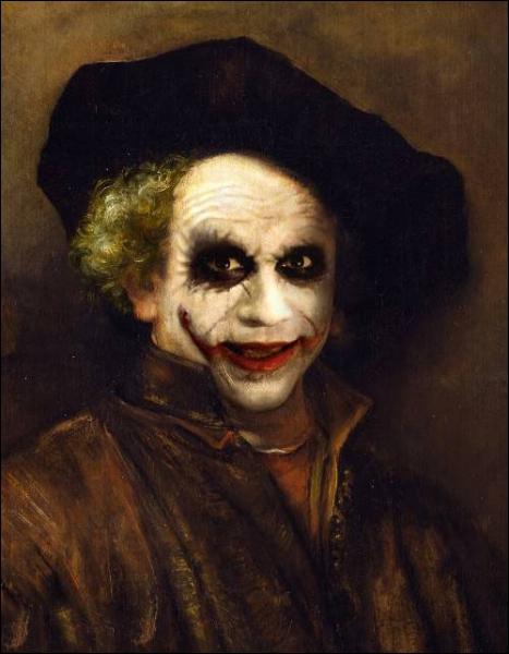 Drôle d'autoportrait de Rembrandt, c'est un sale coup de...