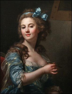 Peintre française de l'ècole néo-classique (1761-1818), portraitiste, ce furent ses miniatures qui lui assurèrent la célébrité jusqu'à la fin de sa carrière. De qui est cet autoportrait ?