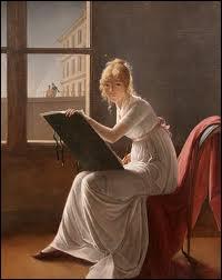 Peintre française, (1754-1820), probablement élève de Vigée-Lebrun, elle peignit des portraits, des miniatures et des scènes de genre. De qui est cet autoportrait ?