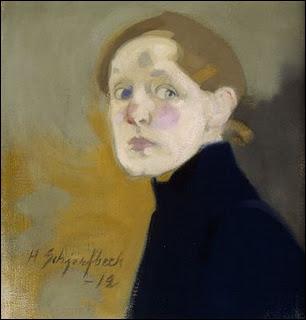 Peintre finlandaise (1862-1946), d'abord naturaliste, elle voyage beaucoup, puis malade, elle se retranche près d'Helsinki où elle élabore son propre langage réaliste. De qui est cet autoportrait ?