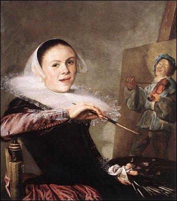 Peintre hollandaise (1609-1660) elle s'est exprimée dans des scènes de genre, des portraits et des natures mortes. De qui est cet autoportrait ?