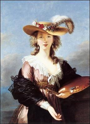 Portraitiste française (1755-1842), considérée à l'égal des peintres hommes de son temps : Quentin de La Tour ou Jean-Baptiste Greuze. De qui est cet autoportrait ?