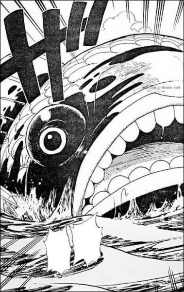 Quelle attaque surpuissante de Dorry et Brogy fend la mer et transperce le corps massif du 'gobe-îles' ?