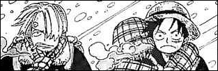 Que rencontrent Luffy, Sandy et Nami en essayant d'accéder à la résidence du Dr Kureha ?