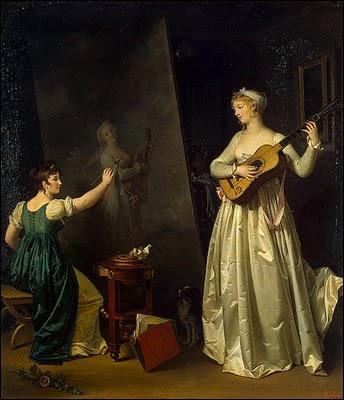 Née à Grasse en 1761, fille d'un parfumeur et belle soeur de Fragonard dont elle devient l'élève. Elle a peint 'L'artiste peintre et la musicienne, son modèle'