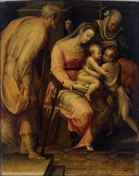 Et l'autre est nommée à Rome par Grégoire XIII. Voici sa 'Sainte Famille'.