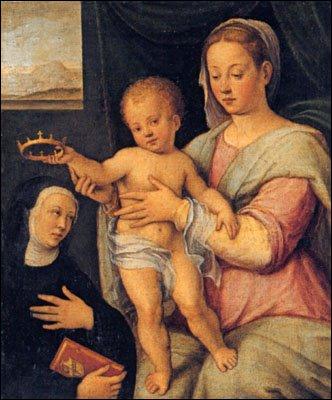 Née à Ravenne (1552-1638) elle étudie la peinture avec son père. Ses sujets de prédilections sont principalement religieux. D'où ces nombreuses 'Madone à l'Enfant'.
