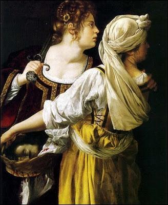 Peintre de cour très demandée sous les Médicis et Charles I d'Angleterre, elle fut la première femme à braver les interdits en peignant des thèmes historiques ou religieux : 'Judith et sa servante'.