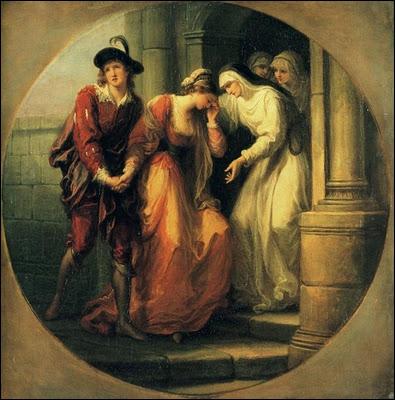 Née en Suisse (1741-1807) , parlant plusieurs langues, douée pour la musique où elle excella, elle peignit tant en Italie qu'en Angleterre. Ici 'L'adieu d'Abelard et Héloïse'.