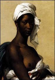 Elève de Vigée-Lebrun puis de David, elle s'en affranchit et c'est ce 'Portrait d'une négresse' qui lui procura la célébrité. (1768-1828)