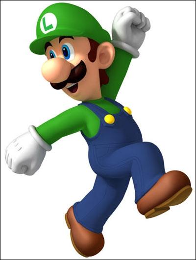 La salopette de Luigi est-elle plus claire ou plus foncée que celle de Mario ?