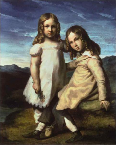 'Double portrait des enfants Dedreux'