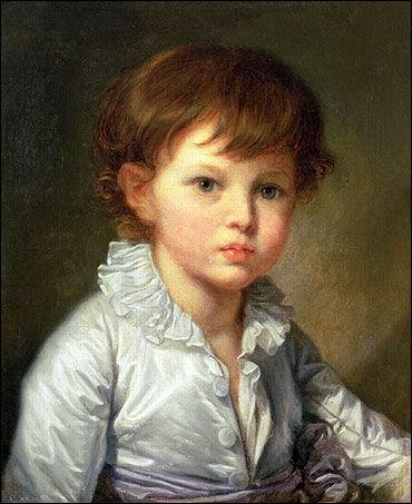 'Portrait du comte Pavel Stroganov enfant'