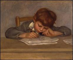 Portrait de Jean, fils de l'artiste dessinant.