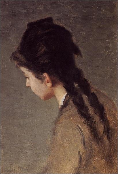 Portrait de la soeur de l'artiste, de profil.
