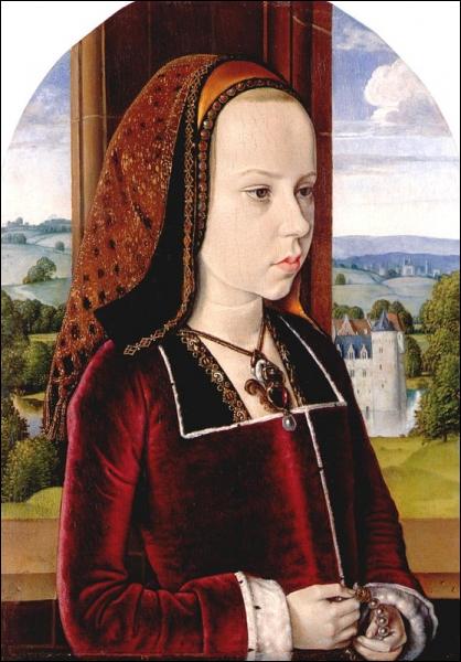 Portrait de Marguerite de Habsbourg , 1490