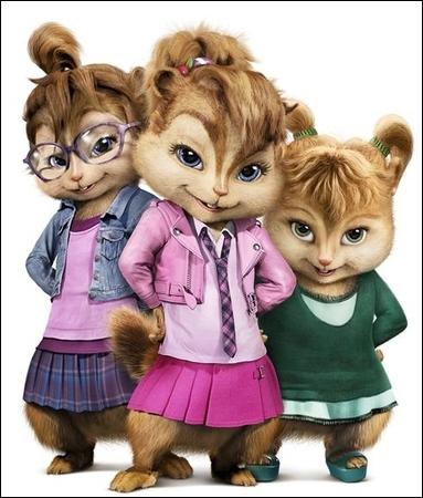 Comment s'appellent les copines des Chipmunks ?