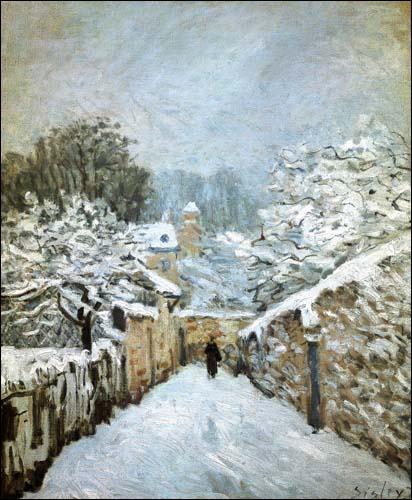 Qui a peint Hiver à Louveciennes ?