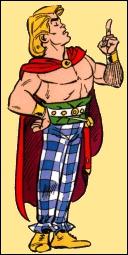 Dans 'Astérix légionnaire', ce personnage est capturé par les Romains. Astérix et Obélix s'empressent de le délivrer :