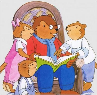 Quel père retrouve-t-on dans un dessin animé, racontant à ses enfants des belles histoires ?