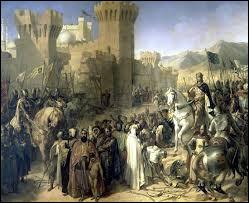 Mais il ne s'attarde pas en Terre Sainte. Au siège de quelle ville participe-t-il en 1191 avant de retourner précipitement en France ?