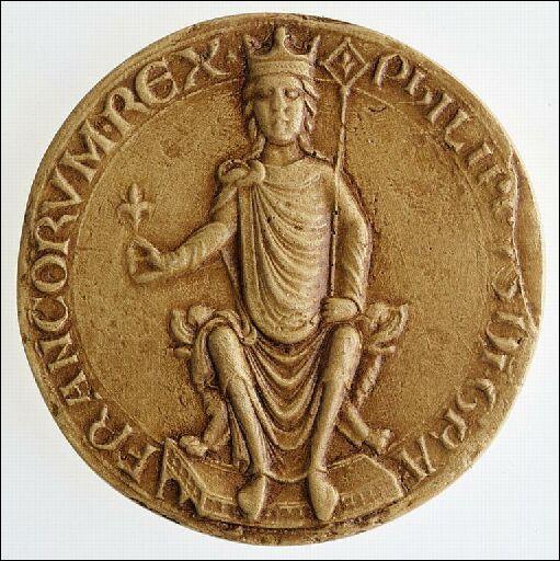 Philippe Auguste a été le premier monarque à faire porter sur ses actes royaux la mention :