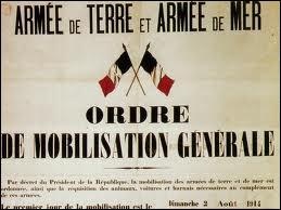 Histoire : quel événement est considéré comme étant le déclencheur de la Première Guerre mondiale ?