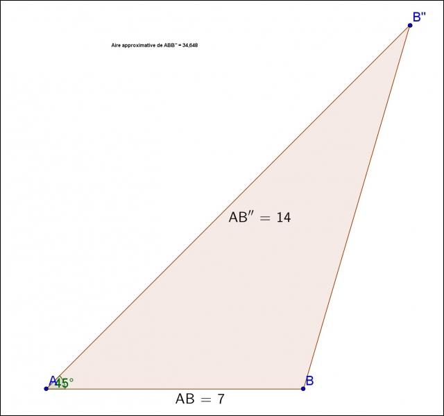Quelle est cette figure (les longueurs sont en centimètre) ?
