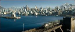 Nos héros se rendent en train dans la ville technologiquement avancée où vivent les riches et puissants de ce monde. Quel est le nom de cette cité ?