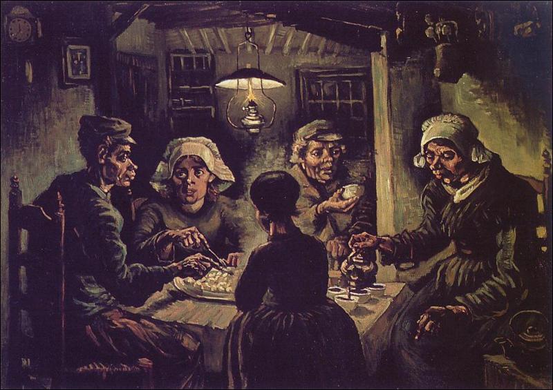 Peint ,en 1885 aux Pays Bas, comment s'appelle ce tableau?