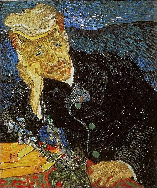 Comment se nommait le médecin qui prit soin de Van Gogh et qui est représenté ici?