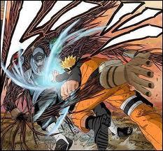 La première fois, sur qui Naruto réalise-t-il son fûton rasen shuriken ?