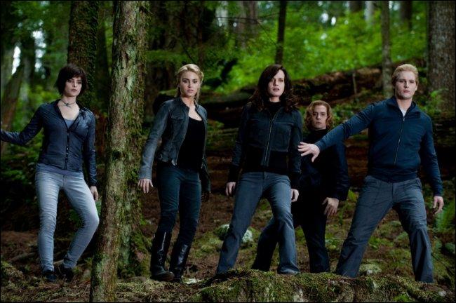 Quand Bella amène Nessie à Aro, quels amis prend-elle pour rejoindre Aro et pourquoi eux ? (chapitre 36)