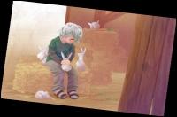 Qui est ce jeune avec les lapins ?