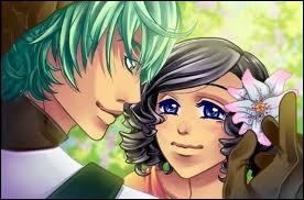 Comment se prénomme le garçon aux cheveux verts ?