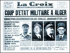 Lequel de ces généraux a participé au putsch d'Alger ?