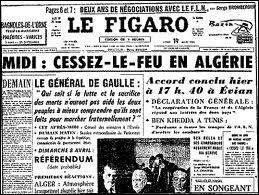 Comment s'appellent les accords ayant abouti à l'indépendance de l'Algérie en 1962 ?