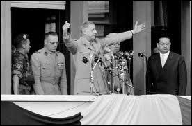 Les Français d'Algérie inquiets de leur sort se soulèvent en 1958. Quelles paroles ambigües restées célèbres de Gaulle a-t-il prononcées depuis le balcon du gouvernement général d'Alger ?