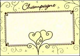 Le millésime est indiqué sur les bouteilles de champagne.