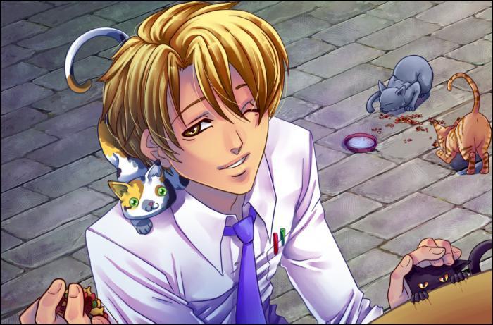 Il aime les chats...