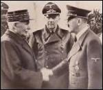 Dans quelle ville a eu lieu la rencontre du 24 octobre 1940 entre Pétain et Hitler, jetant les bases de la collaboration ?