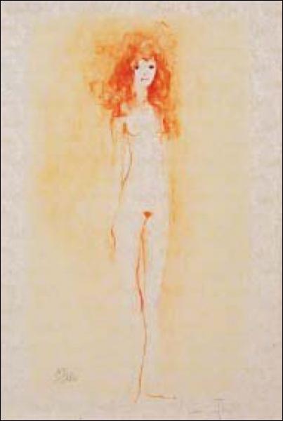 Qui a peint 'Jeune fille rousse debout' ?
