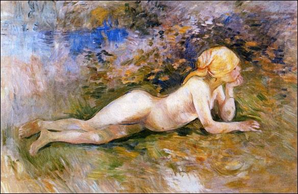 Qui a peint 'Bergère nue couchée' ?